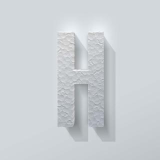Piepschuim Letter H Bebas Neue