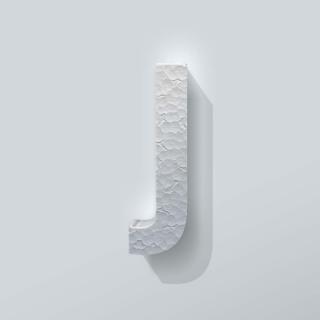 Piepschuim Letter J Bebas Neue