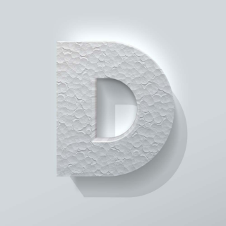 Piepschuim Letter D Big John