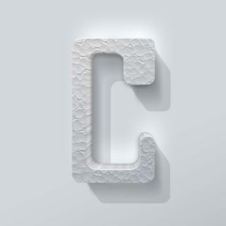 Piepschuim Letter C Checkbook