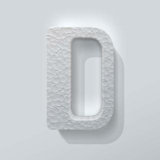 Piepschuim Letter D Checkbook