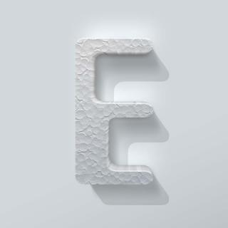 Piepschuim Letter E Checkbook