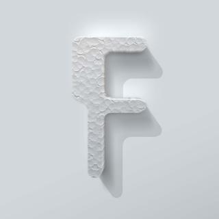 Piepschuim Letter F Checkbook
