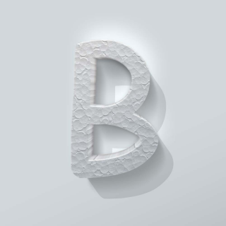 Piepschuim Letter B Comic Sans