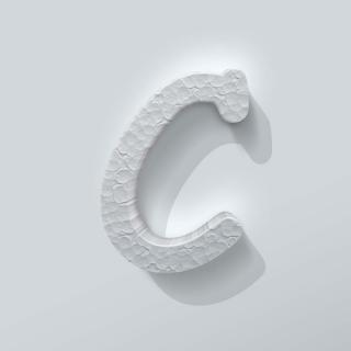 Piepschuim Letter C Comic Sans