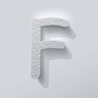 Piepschuim Letter F Comic Sans