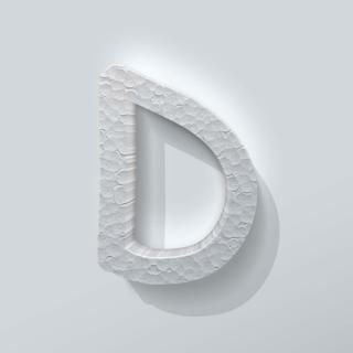 Piepschuim Letter D Comic Sans