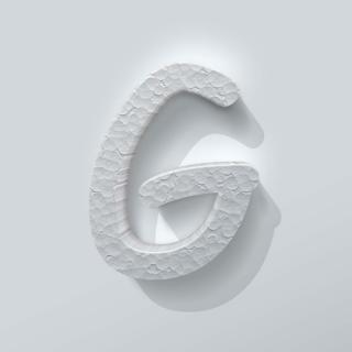 Piepschuim Letter G Comic Sans