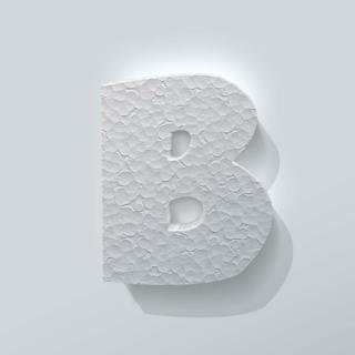Piepschuim Letter B Grobold