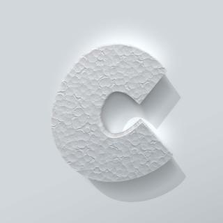 Piepschuim Letter C Grobold
