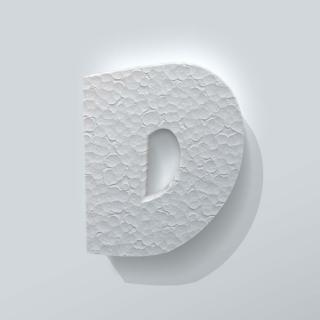 Piepschuim Letter D Grobold