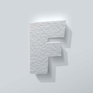 Piepschuim Letter F Grobold