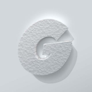 Piepschuim Letter G Grobold