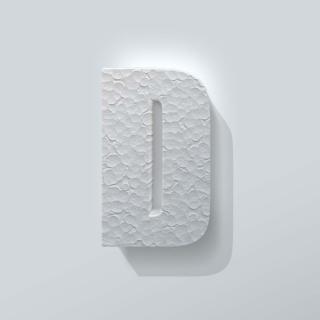 Piepschuim Letter D Impact