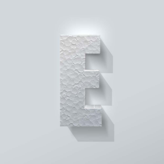Piepschuim Letter E Impact