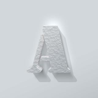 Piepschuim Letter A Stencil