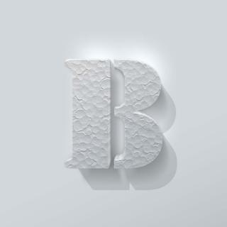 Piepschuim Letter B Stencil