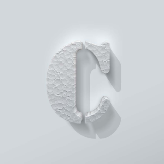Piepschuim Letter C Stencil