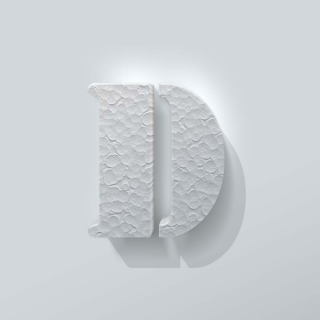 Piepschuim Letter D Stencil