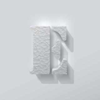 Piepschuim Letter E Stencil