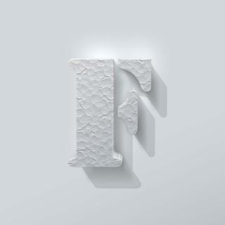 Piepschuim Letter F Stencil