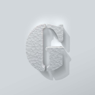 Piepschuim Letter G Stencil