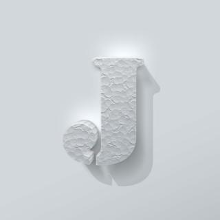 Piepschuim Letter J Stencil