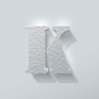 Piepschuim Letter K Stencil