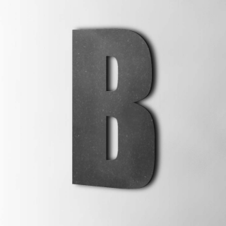Houten Letter B Impact MDF Zwart