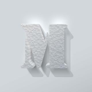 Piepschuim Letter M Stencil