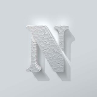 Piepschuim Letter N Stencil