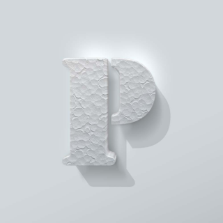Piepschuim Letter P Stencil