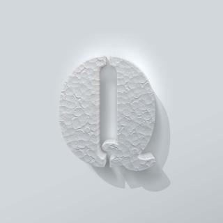 Piepschuim Letter Q Stencil
