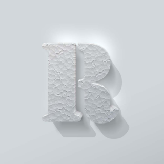 Piepschuim Letter R Stencil