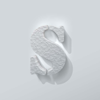 Piepschuim Letter S Stencil