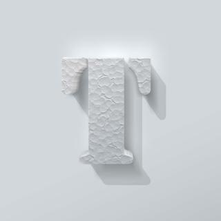 Piepschuim Letter T Stencil