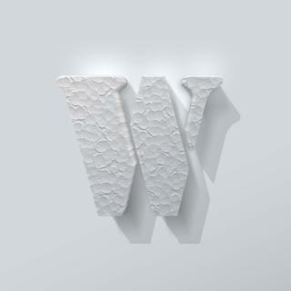 Piepschuim Letter W Stencil