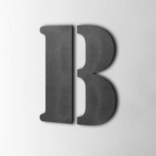 Houten Letter B Stencil MDF Zwart