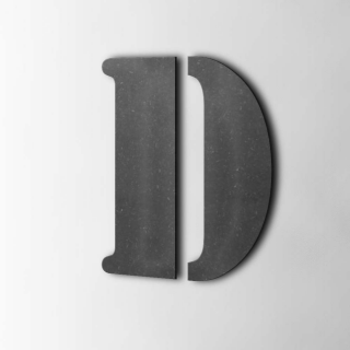 Houten Letter D Stencil MDF Zwart