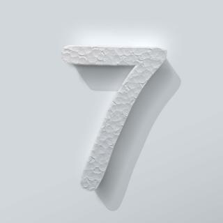 Piepschuim Cijfer 7 Comic Sans