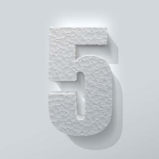 Piepschuim Cijfer 5 Impact