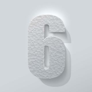 Piepschuim Cijfer 6 Impact