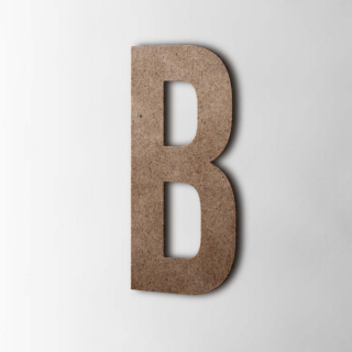 Houten Letter B Bebas Neue MDF Bruin