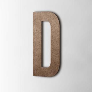 Houten Letter D Bebas Neue MDF Bruin