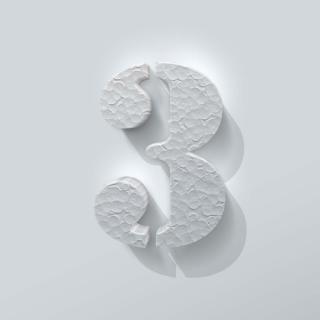 Piepschuim Cijfer 3 Stencil