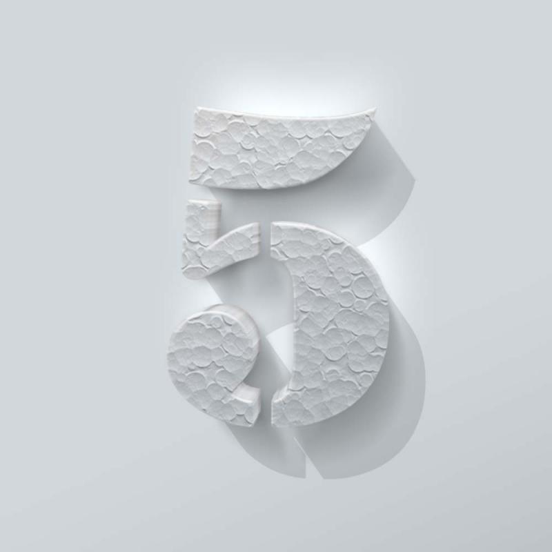 Piepschuim Cijfer 5 Stencil
