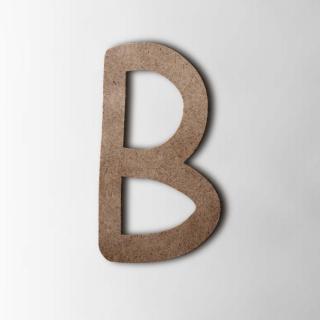 Houten Letter B Comic Sans MDF Bruin