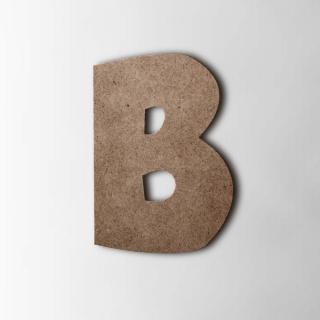 Houten Letter B Grobold MDF Bruin