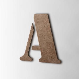 Houten Letter A Stencil MDF Bruin