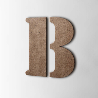 Houten Letter B Stencil MDF Bruin